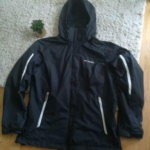 Women's Black Columbia Hooded Jacket